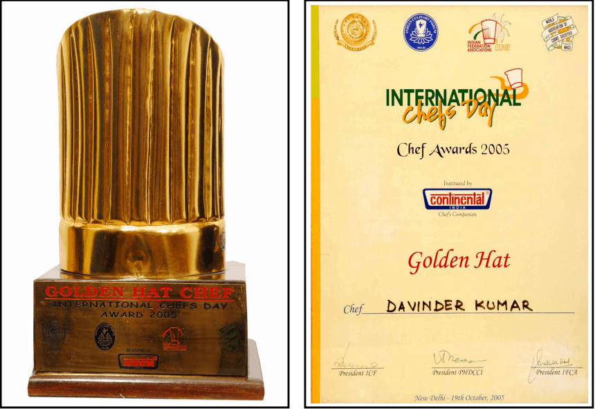 """""""Golden Hat Award"""" by the ICF & IFCA"""