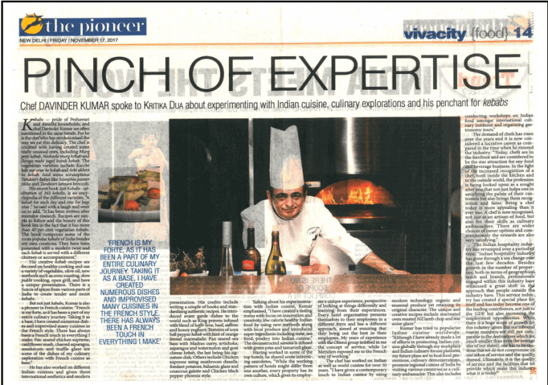 """""""Pinch of Expertise"""", an article published at The Pioneer"""""""